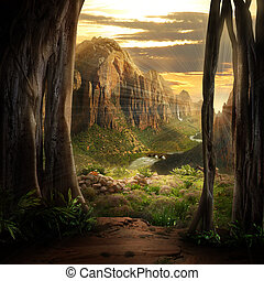 phantasy, landschaftsbild