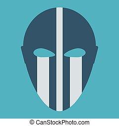Phantom Carnival Mask Flat Icon
