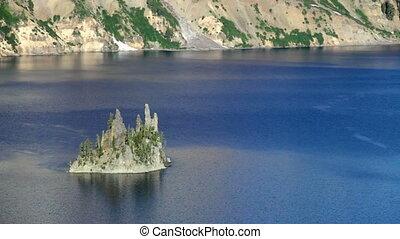 Phantom Ship, Crater Lake - Phantom Ship in Crater Lake...