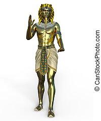 Pharaoh - 3D CG rendering of a pharaoh.