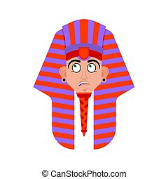 Pharaoh confused emoji. Rulers of ancient Egypt perplexed ...