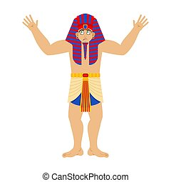 Pharaoh confused. Rulers of ancient Egypt perplexed. Vector ...