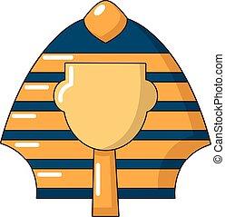 Pharaoh icon, cartoon style - Pharaoh icon. Cartoon...