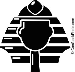 Pharaoh icon, simple black style - Pharaoh icon. Simple...
