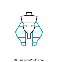 Pharaoh linear icon concept. Pharaoh line vector sign,...
