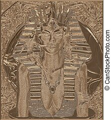 Pharaoh Queen Sandstone 3D Render