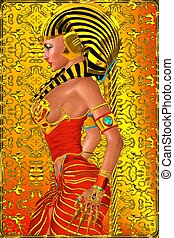 Pharaoh queen side profile