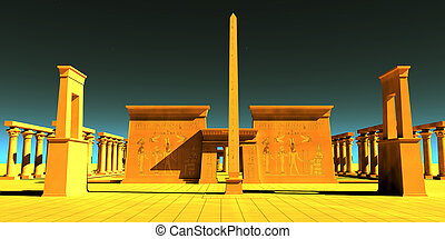 pharaonic, 寺院, エジプト人