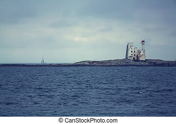 phare, dans, norvège