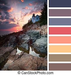 phare port, basse, palette