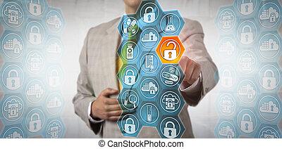 pharma, cadre, solidement, accéder, morceau, de, données