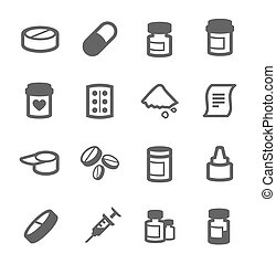 Pharma icons - Simple set of pharma related vector icons for...