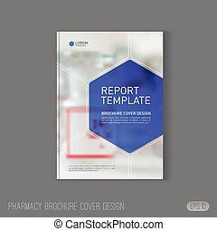 Pharmaceutical brochure cover template.