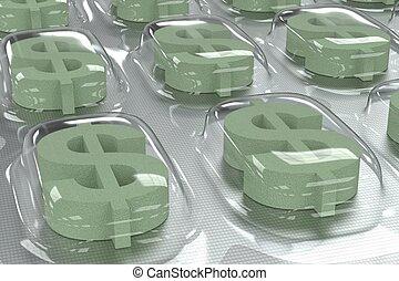 Pharmaceutical Business - Dollar Symbol
