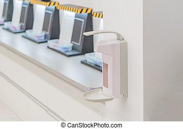 pharmaceutical factory equipment - Hand sanitizer dispenser.