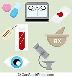Pharmaceutical Icon Set