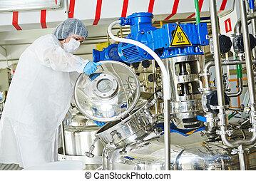 pharmaceutical iparág, munkás