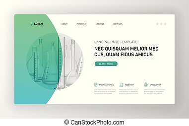 Pharmaceutical Landing page template - Pharmaceutical...