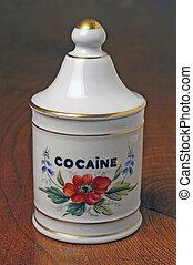 pharmaceutical pot of cocaine