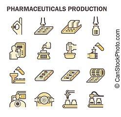 Pharmaceutical vector icon