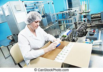 pharmaceutique, industriel, ouvrier usine