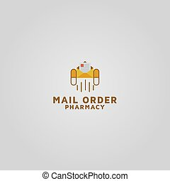 pharmacie, logo, vecteur, gabarit, ordre, conception, courrier
