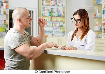 pharmacien, et, client