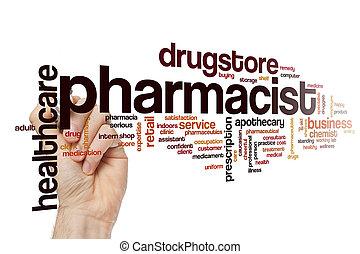 pharmacien, mot, nuage