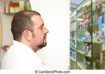Pharmacist at pharmacy