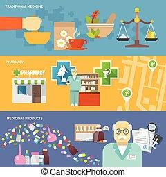 Pharmacist Banner Set - Pharmacist horizontal banner set ...