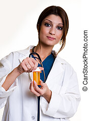 Pharmacist - Confident pretty woman healthcare worker...