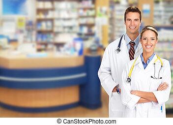 Pharmacist in a drugstore