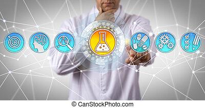 pharmacologist, identifier, thérapeutique, substance