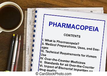 Pharmacopeia on drug industry-
