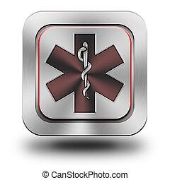 Pharmacy aluminum glossy icon