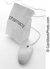 Pharmacy Bag and computer mouse