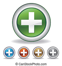 pharmacy cross icon set