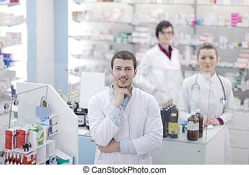 pharmacy drugstore people team