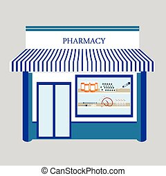 Pharmacy drugstore shop - Vector illustration pharmacy...