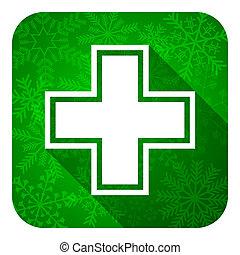 pharmacy flat icon, christmas button