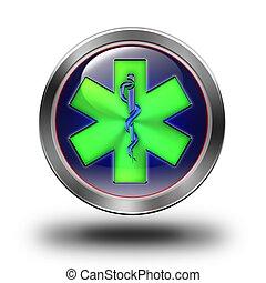 Pharmacy glossy icon