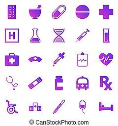 Pharmacy gradient icons on white background