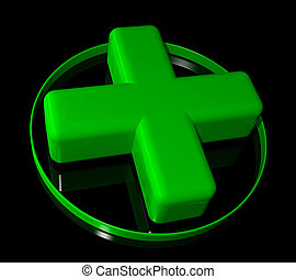 Pharmacy green cross sign