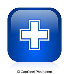pharmacy icon - blue glossy computer icon