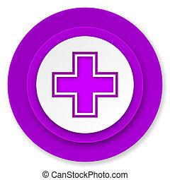 pharmacy icon, violet button