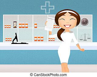 Pharmacy - Illustration of pharmacy