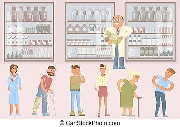 Pharmacy infographic elements
