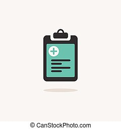 Pharmacy inventory. Icon with shadow on a beige background. Medicine vector illustration