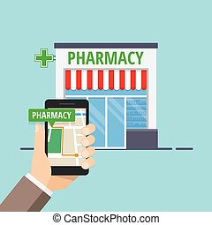 Pharmacy Location Sign