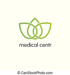 Pharmacy Logo Medicine  design vector template. Medical clinic infinity loop Logotype concept icon.